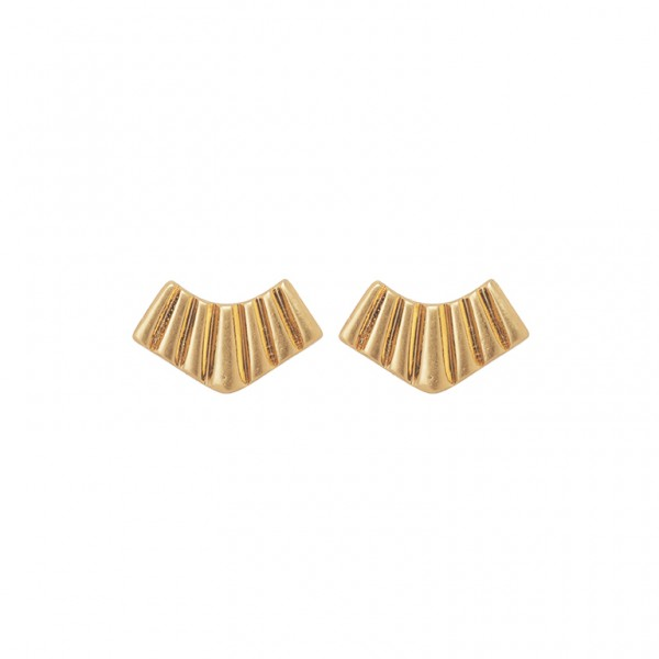 Bridges Ear Studs in Plated Gold