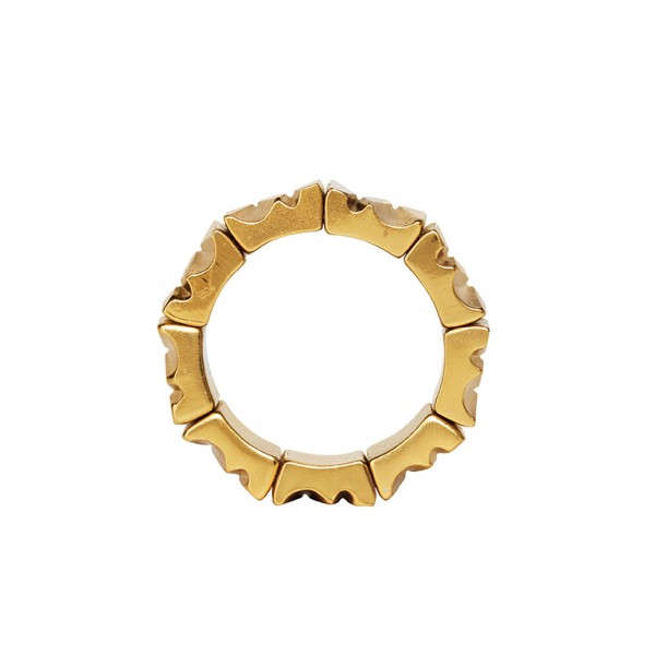 Bridges Ring in Plated Gold