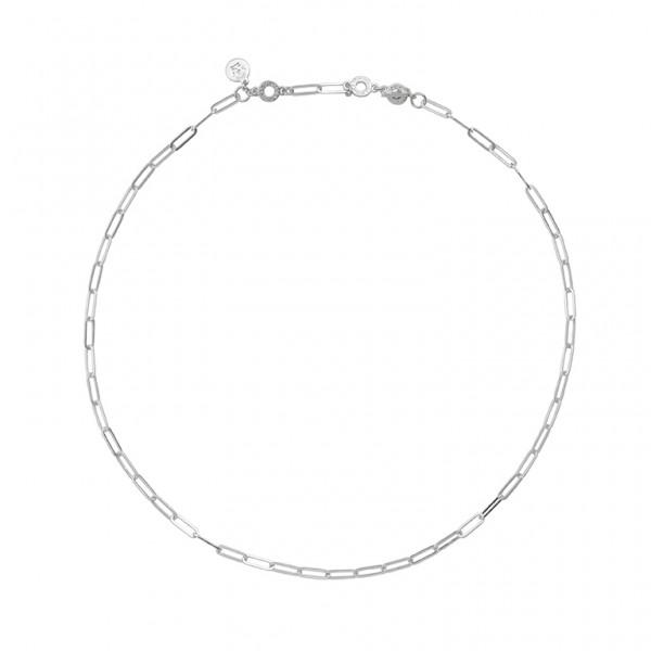 Bridges Medium Necklace in Plated Silver