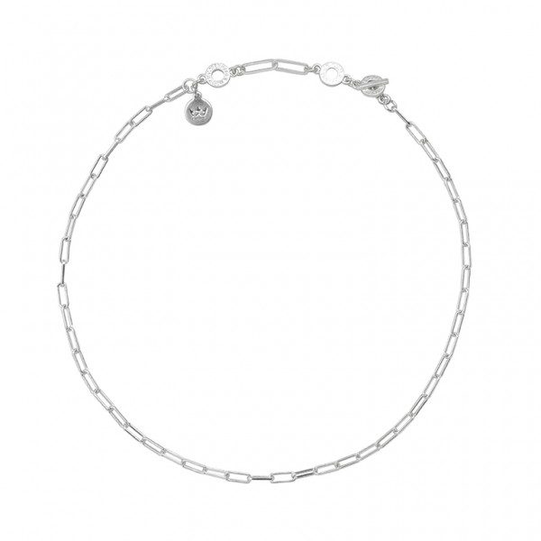 Bridges Short Necklace in Plated Silver