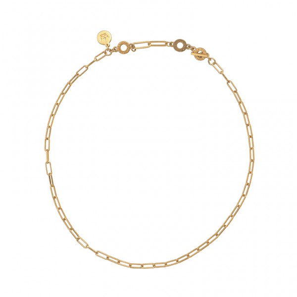 Bridges Short Necklace in Plated Gold