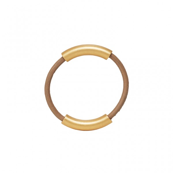 UG Leather Ring in Plated Gold