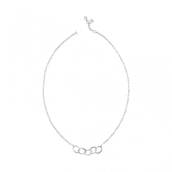 KBS Necklace in Plated Silver