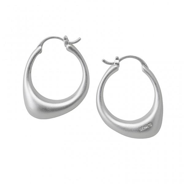KBS Hoop Earrings in Plated Silver