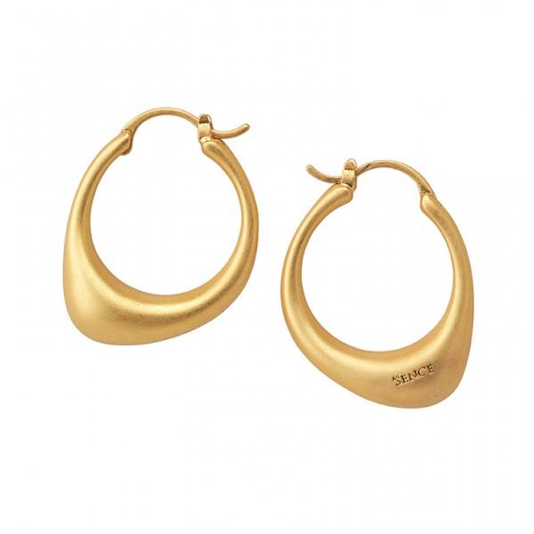 KBS Hoop Earrings in Plated Gold