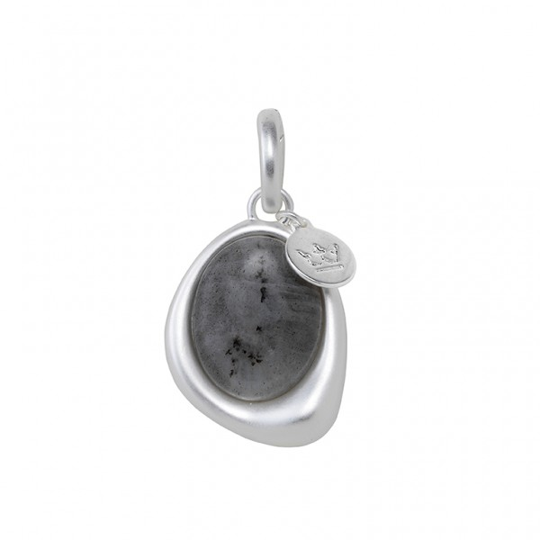 KBS Charm with Labradorite in Plated Silver