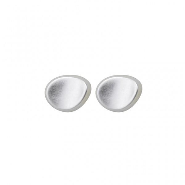 KBS Ear Studs in Plated Silver