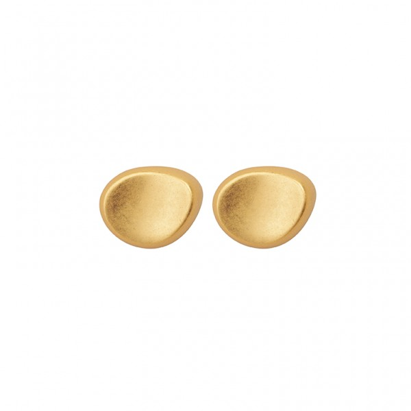 KBS Ear Studs in Plated Gold