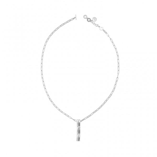 The Lakes necklace in plated silver