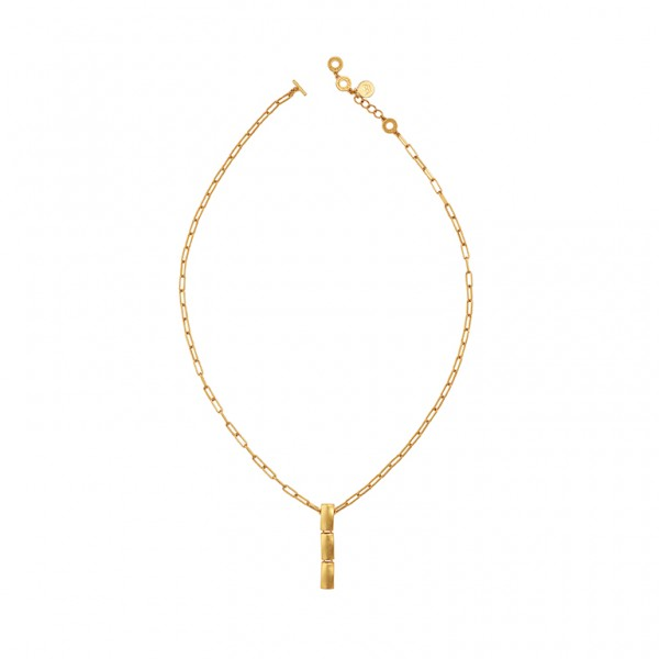 The Lakes necklace in plated gold