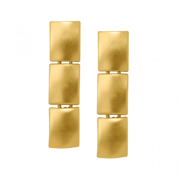 The Lakes earrings in plated gold