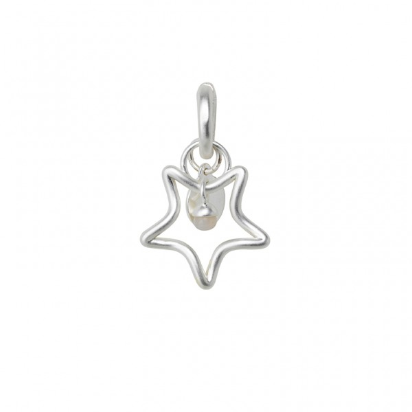 The Soul Charm with Bamboo Agate in Plated Silver