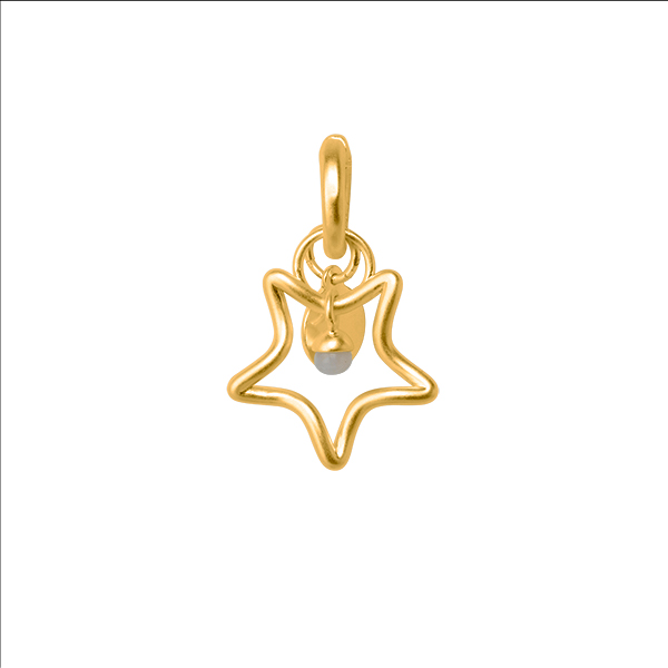 The Soul Charm with Labradroite in Plated Gold