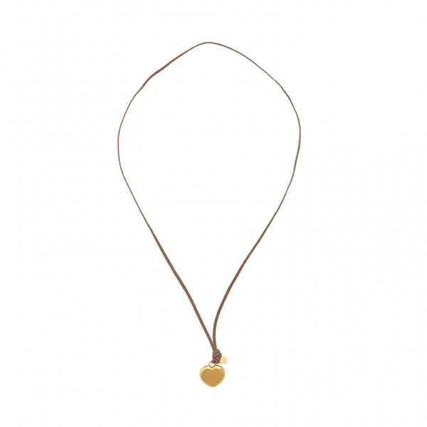 The Soul  Necklace with charm in Plated Gold
