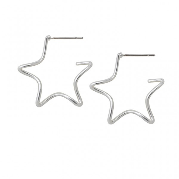 The Soul  Earring in Plated Silver