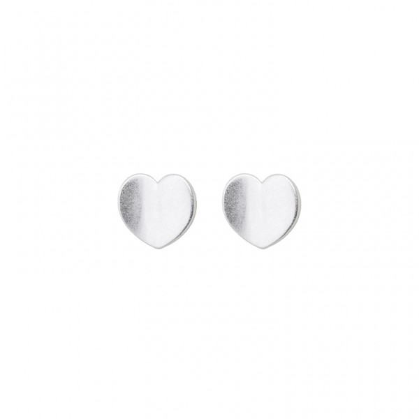 The Soul Heart Ear Studs in Plated Silver