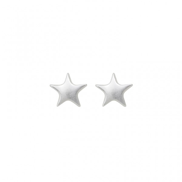 The Soul  Ear Studs in Plated Silver