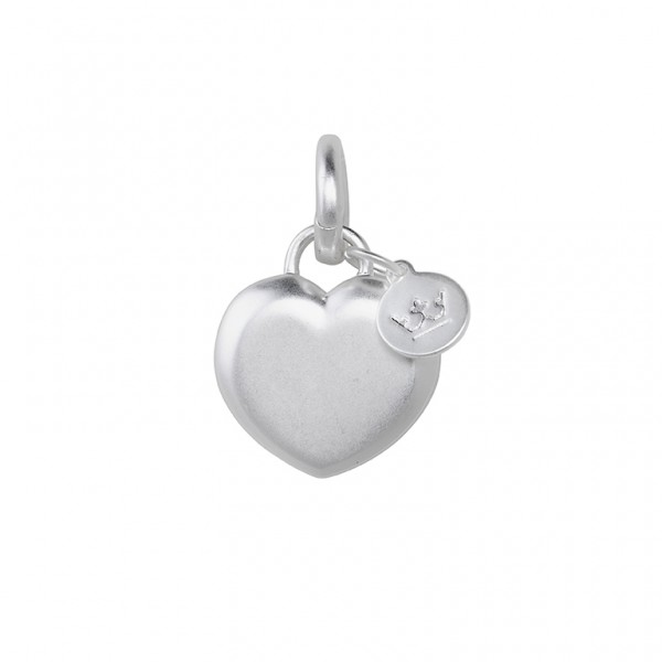 The Soul  Heart Charm in Plated Silver