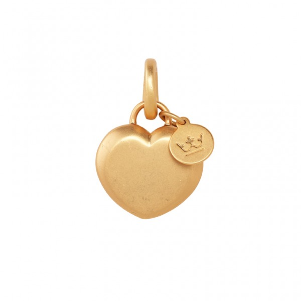 The Soul Heart Charm in Plated Gold