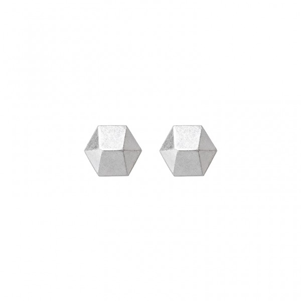 The Taste  ear studs in plated silver