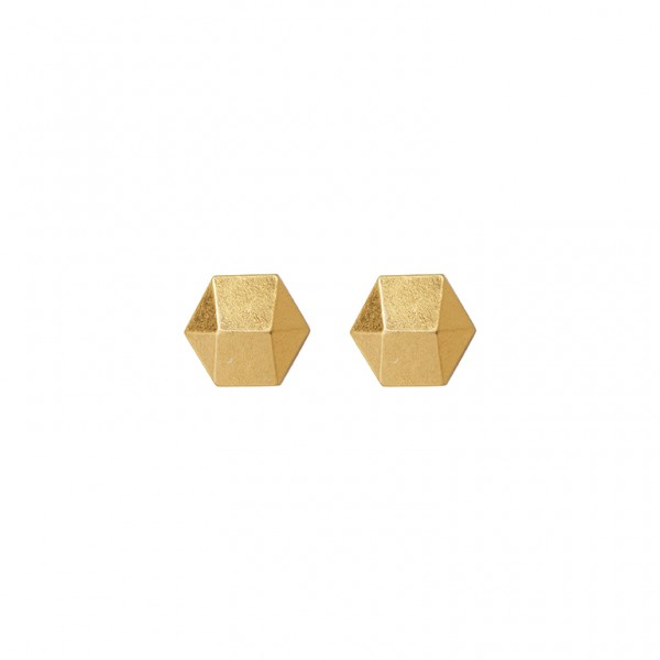 The Taste ear studs in plated gold