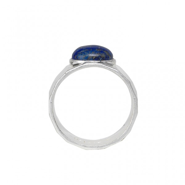The Taste  ring with blue lapsis in plated silver