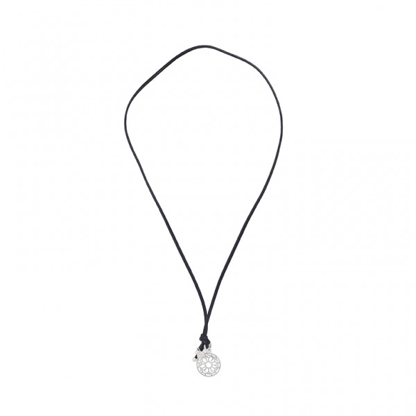 The Taste necklace with charm  in plated silver