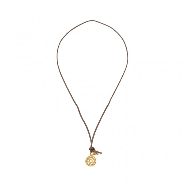 The Taste necklace with charm  in plated gold