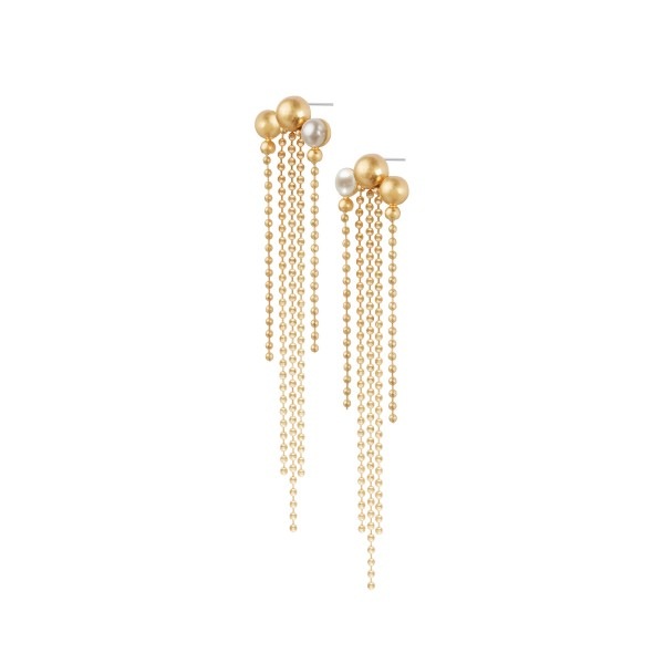 Dance Kobbea Long Earrings with Pearl