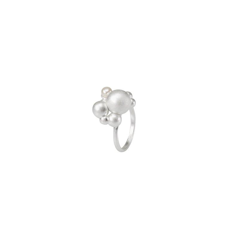Dance Winter Dew Statement Ring in Silver