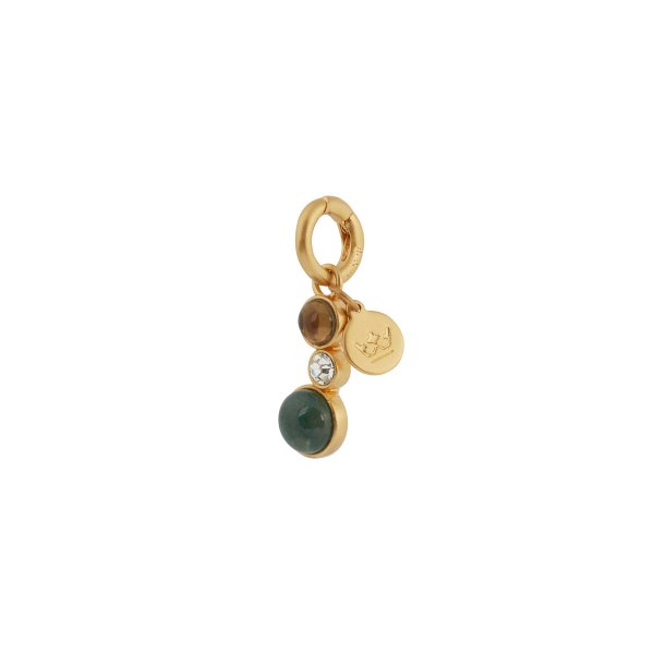 Fairytale Winter Spruce Charm with Green Onyx