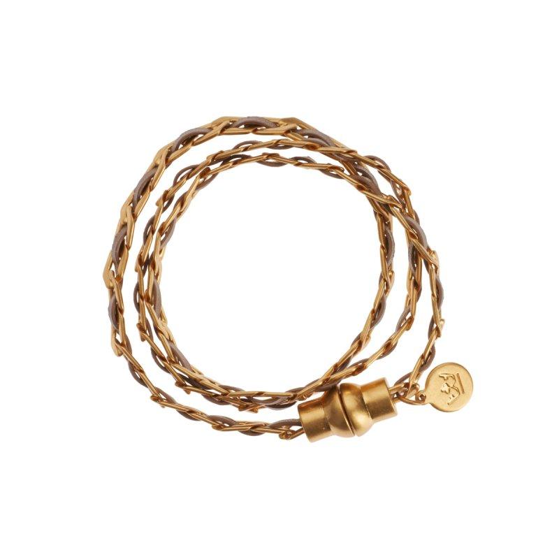 Poem Naja Wrap Bracelet in Gold
