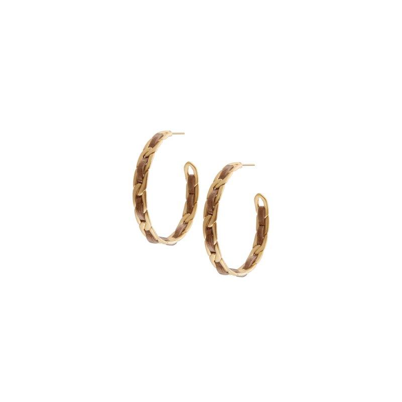 Poem Naja Hoop Earrings in Gold