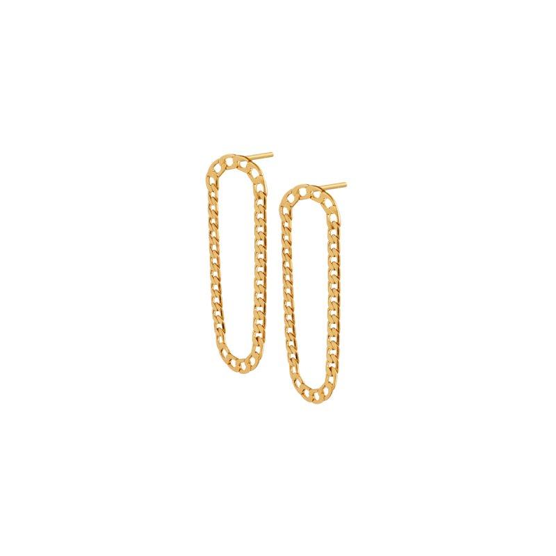 Poem Benny Long Earrings in Gold