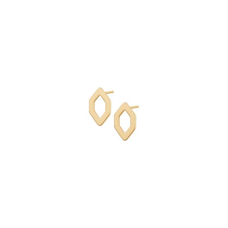Poem Benny Ear Studs in Gold