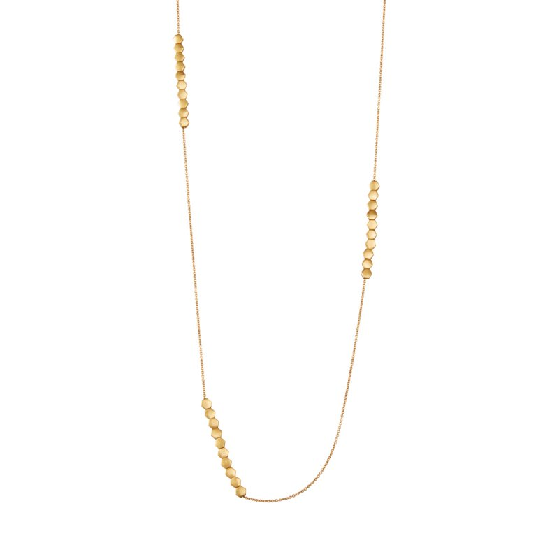 Shadow Long Necklace in Gold