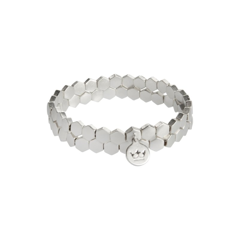 Shadow Stacked Bracelet in Silver