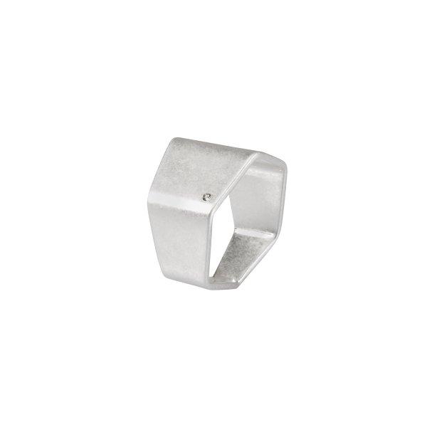 Shadow Cigar Ring in Silver
